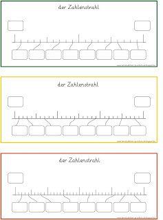 Zahlenstrahl - Blankovorlagen (2)