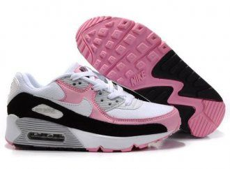 Nike Air Max 90 Womens White/Digital Pink-Black Shoes