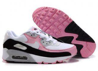 Nike Air Max 90 Womens White/Digital Pink-Black Shoes