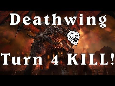 ▶ Hearthstone Beta Deathwing TURN 4 KILL!! - YouTube