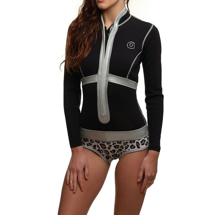 GLIDESOUL LONG SLEEVE 1MM SHORTY WETSUIT Blk/Leop - Glidesoul Wetsuits at  Shore.co