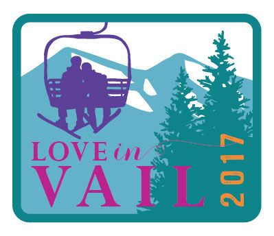 Vail ski chairlift logo for anniversary party - Paperfish Designs