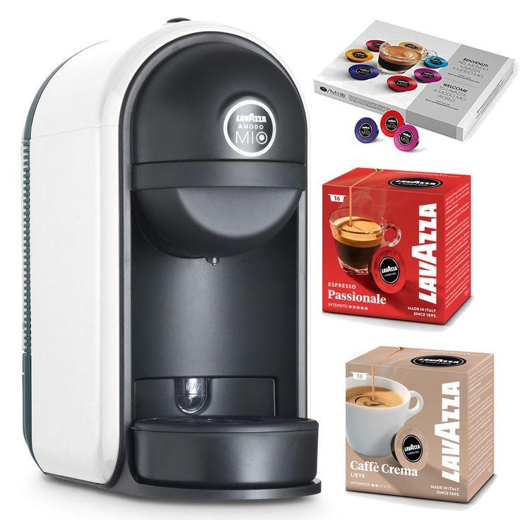 Lavazza Minú LM500 Kapsel Kaffeemaschine weiß & 44 Kaffeekapseln