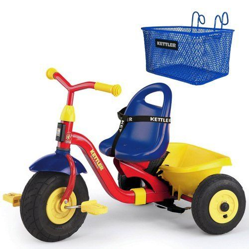 Kettler 8839-599 Kettrike Air Navigator + Kettler Basket Accessory by Kettler. $229.00. The Kettrike Air Navigator Tricycle is a truly revolutionary concept in a tricycle. You can lock the front wheel, let the child rest his or feet on the pedals, and provide both steering and power from the rear, or let them do it. The pedals wont turn until the child puts pressure on them, thanks to Kettlers patented freewheeling/coasting system. The Kettrike Air Navigator is b...