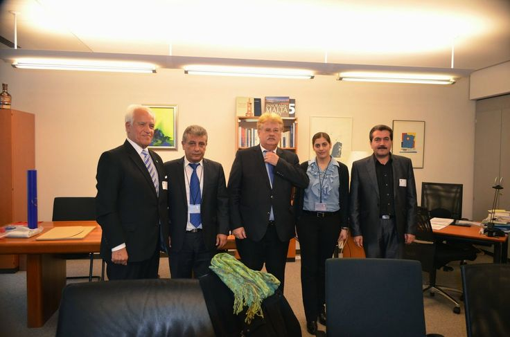 #MEP Elmar Brok, Chairman of the Committee on Foreign Affairs of the European Parliament received a joint delegation representing the #Turkmen, Chaldean-Syriac-Assyrian and #Yazidi peoples of #Iraq at his office at the #EU #Parliament on 4th November 2014.