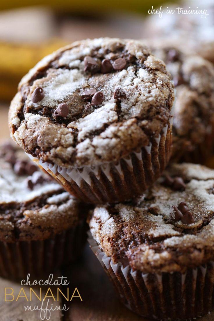 Vous avez le goût de gâter vos enfants pour le retour de l'école ce soir. Un muffin aux bananes et chocolat pour fêter la fin des classes.  La perfection se trouve quelques lignes plus bas. Un muffin moelleux, tendre et savoureux.   Ingré