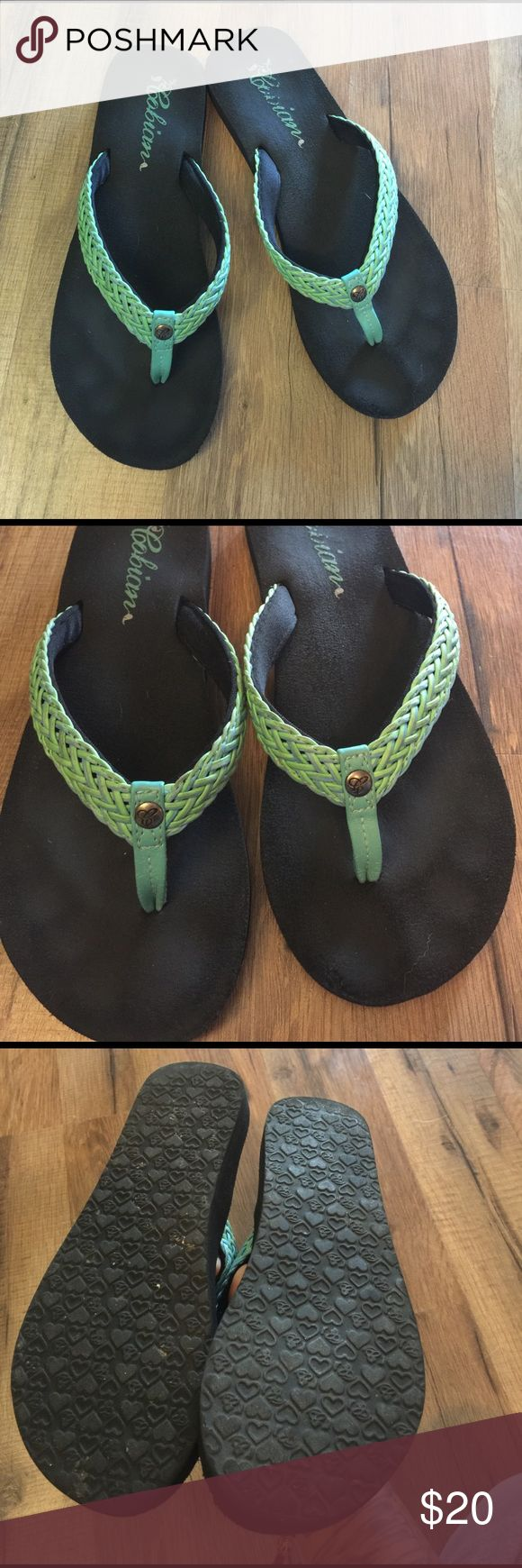 Cobian sandals Size 7 Cobian flip flops . Super squishy and comfortable - purschased in January Cobian Shoes Sandals