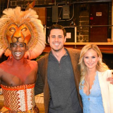 The Bachelor's Ben Higgins and Lauren Bushnell See Broadway's The Lion King - TheaterMania.com