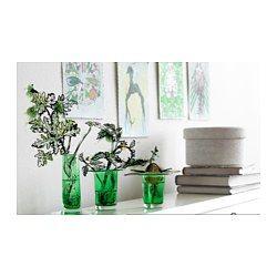 IKEA - ANVÄNDBAR, Váza, sada 3 kusov, Prv než odrezky zasadíte do kvetináča, nechajte ich zakoreniť vo vode.Ručne fúkané sklo; každá váza je vytvarovaná zručným majstrom.