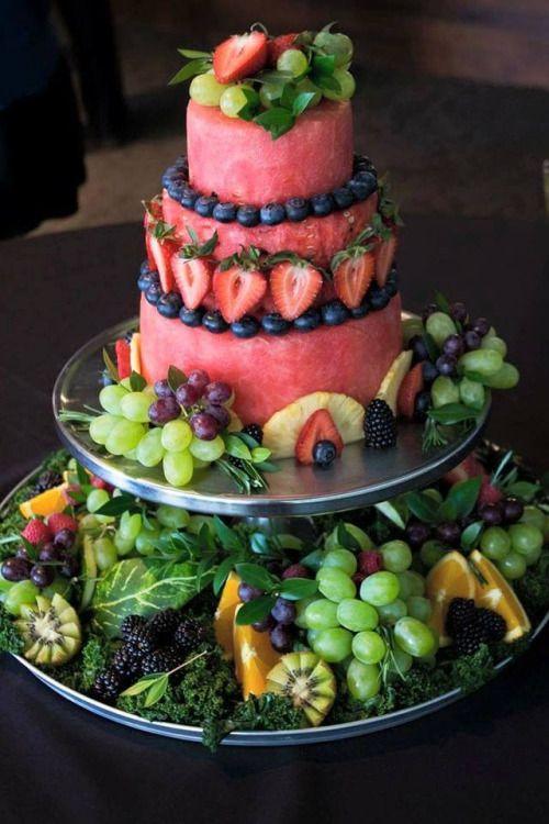 Fruit Raw Wedding Cake