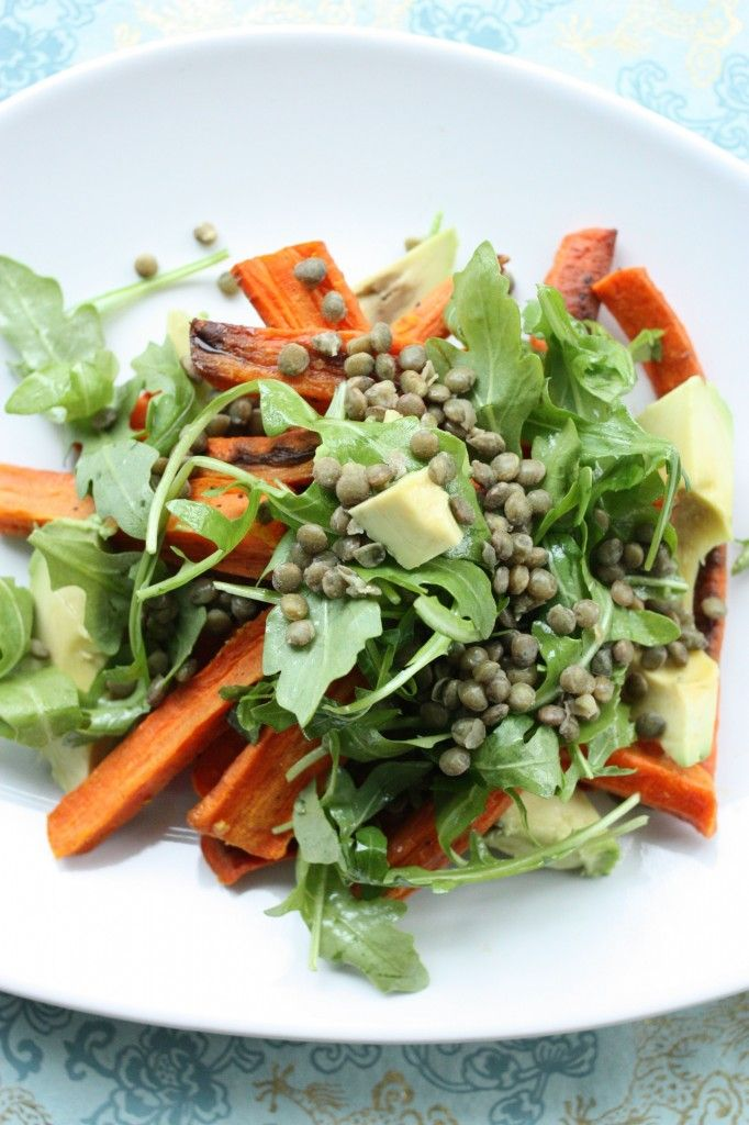 roasted carrot avocado salad @Gena Ng Hamshaw