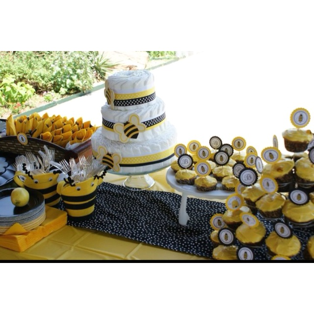 Bumble Bee Baby Shower Theme Diaper Cake Ideas And Inspiration Were Found Here