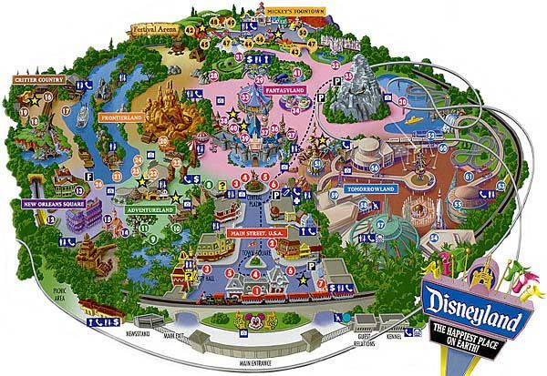 disneyland california  Disneyland Los Angeles Park Map Latest