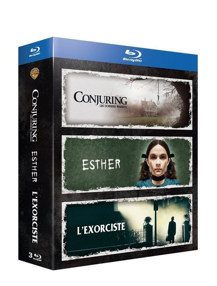 Conjuring : les dossiers Warren + L exorciste + Esther  BLU-RAY - NEUF