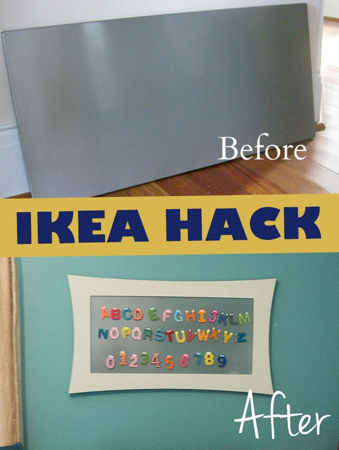 IKEA HACK: SPONTAN  Easy upgrade to make this magnet board super cute!