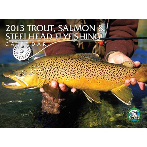 Trout Salmon & Steelhead Wall Calendar: Spend the year getting a close up look at beautiful trout, salmon, and steelhead fish while immersing yourself in the tranquil beauty of prime flyfishing spots with this stunning wall calendar for 2013.  $12.95  http://www.calendars.com/Fishing/Trout-Salmon-and-Steelhead-2013-Wall-Calendar/prod201300003333/?categoryId=cat00406=cat00406#