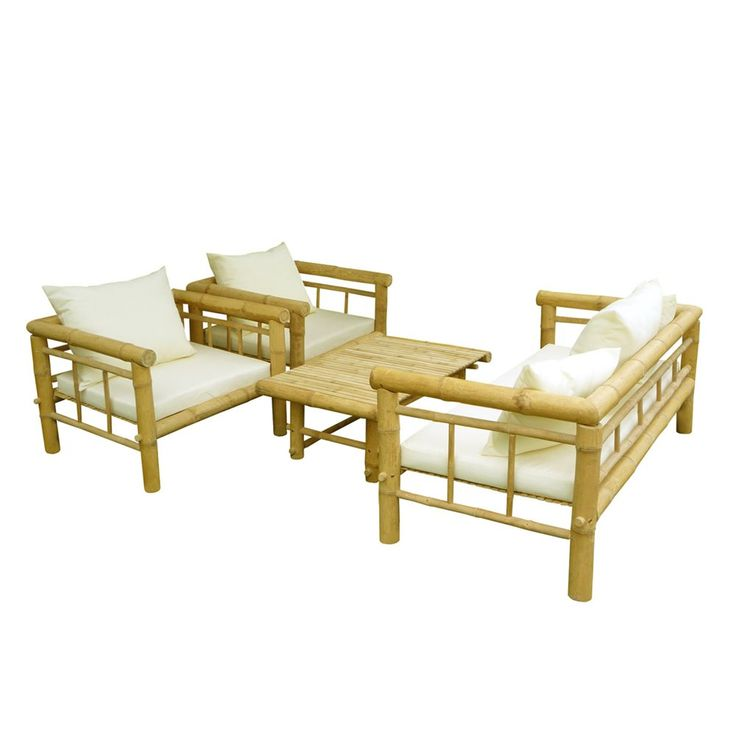 Pin By Abhijay Janu On Homes: Shop ZEW SET-029-0-03 Bamboo Sofa Set At ATG Stores