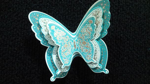 Sea Green Butterfly Trio