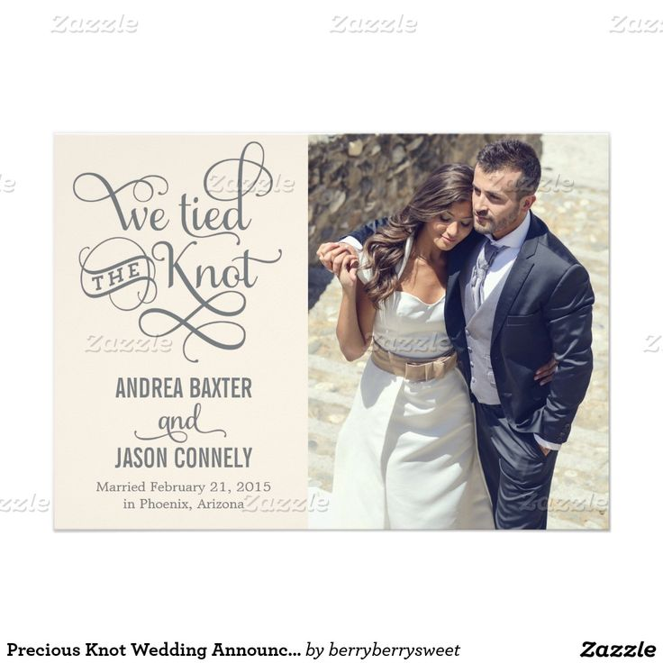 7 best wedding announcements images on pinterest wedding shop precious knot wedding announcement light peach created by berryberrysweet personalize it with photos text or purchase as is stopboris Choice Image