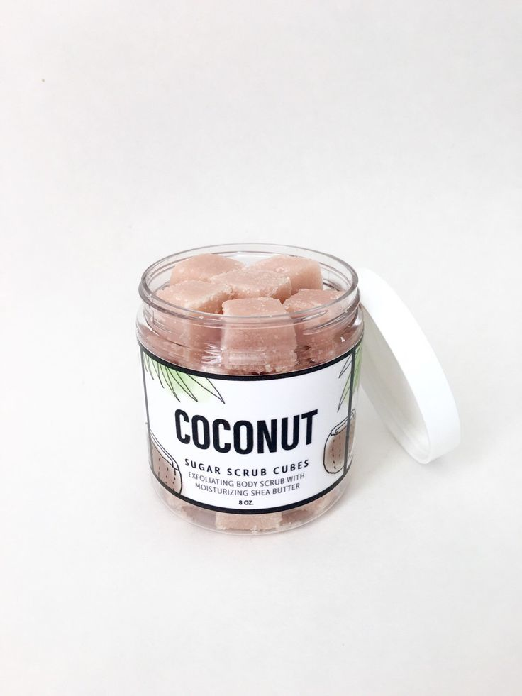 Coconut Sugar Scrub Cubes.8 ounce jar by LeelooSoap on Etsy https://www.etsy.com/listing/256483703/coconut-sugar-scrub-cubes8-ounce-jar