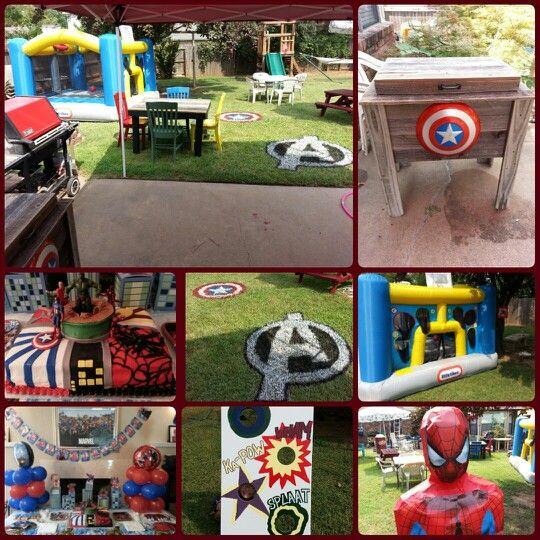 Marvel Superheroes Backyard Birthday Party. We Had A Lot