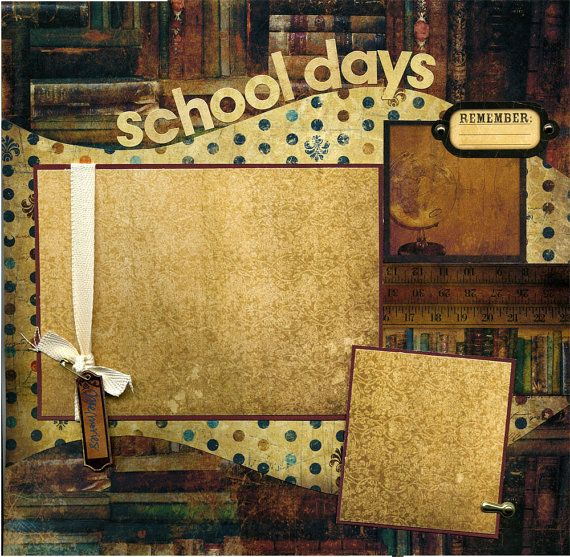 12x12 Premade Scrapbook Page  School Days  by SusansScrapbookShack, $15.95