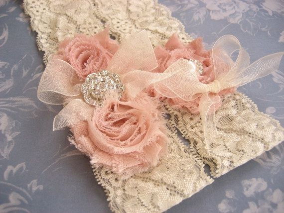 Vintage Bridal Garter Wedding Garter Set Toss by nanarosedesigns, $27.00