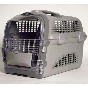 Pet cargo cabrio gris caisse de transport pour chat ou petit chien