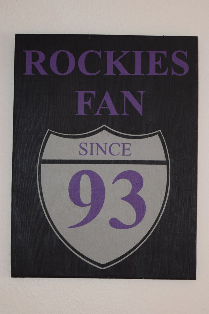 Colorado Rockies Sign, Baseball Sign, Fan Sign, Man Cave, Sports Sign, Team Sign, Handmade, Handpainted, Fans Since, Personalized, by CambrisCottage on Etsy