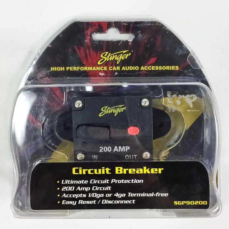 Stinger Audio Car Auto Stereo Amplifier 200 Amp SGP90200 Circuit Breaker Fuse | eBay
