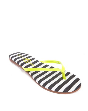 Yosi Two Tone Stripe Flip Flop - ShoeMint