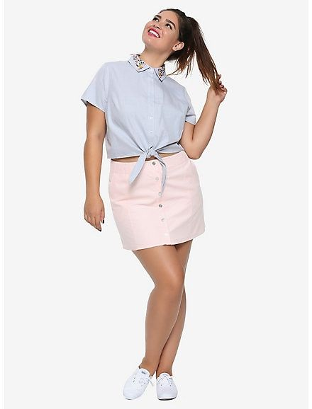 3ac4b619 Riverdale Betty Pink Corduroy A-Line Skirt Plus Size Hot Topic Exclusive,  LIGHT PINK