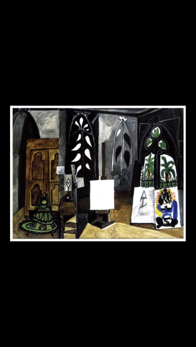 """Pablo Picasso -"""" L'Atelier de La Californie """", 1956 - Huile sur toile - 114 x 146 cm - Musée Picasso, Paris (..)"""