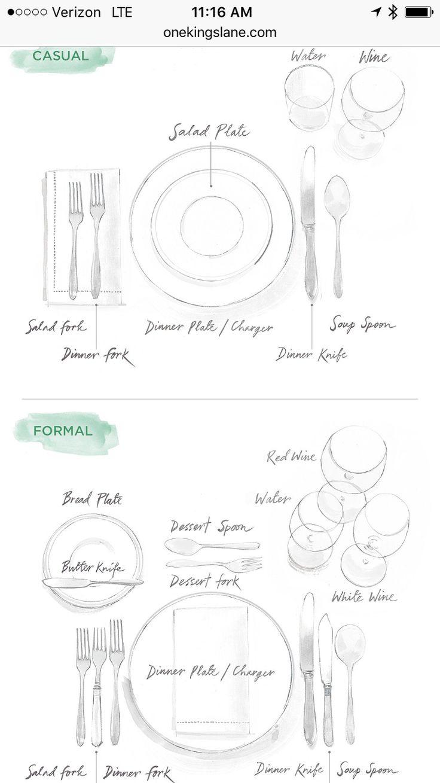 38 best table settings diagram images on pinterest