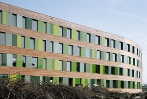 Sauerbruch Hutton's alien Federal Environmental Agency building at Dessau.