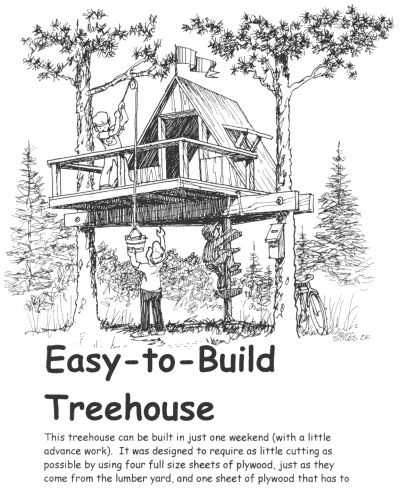 17 best ideas about tree house designs on pinterest for Simple houses to build