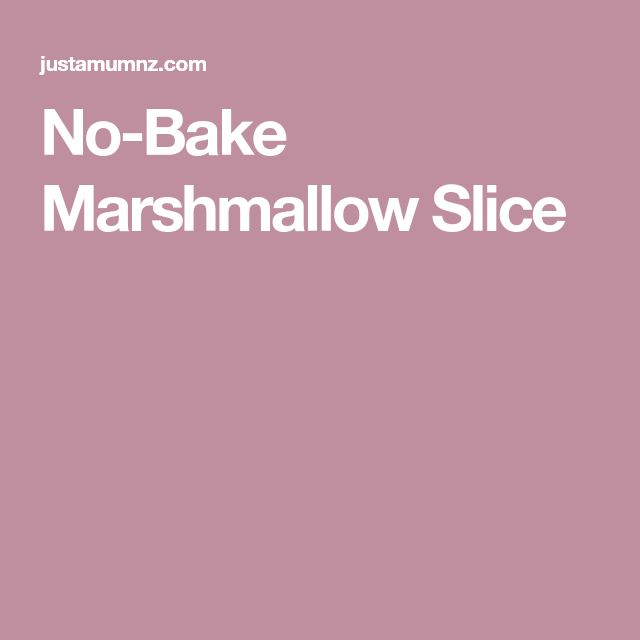 No-Bake Marshmallow Slice
