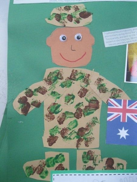 Craft for Memorial Day....I am going to switch it up a bit, but the soldier is cute!