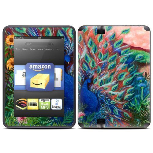 285 best electronics images on pinterest consumer electronics coral peacock design protective decal skin sticker for amazon kindle fire hd 7 inch ebook reader fandeluxe Images
