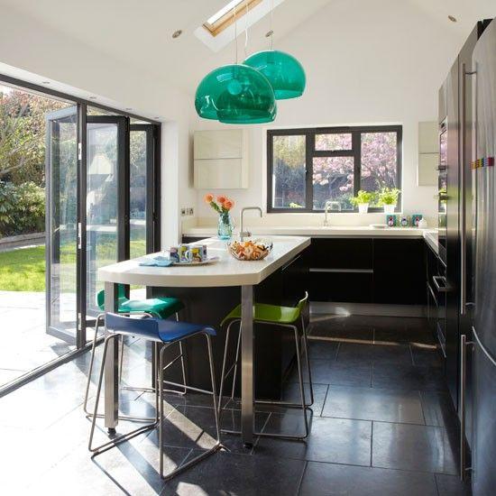 indoor / outdoor, lots of light, sloped ceiling