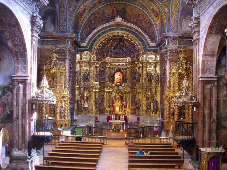 Interior de la iglesia de Santa María, Los Arcos, Navarra, Camino de Santiago
