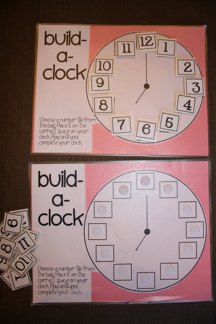 79 best clocks telling time images on pinterest school math activities and teaching ideas. Black Bedroom Furniture Sets. Home Design Ideas