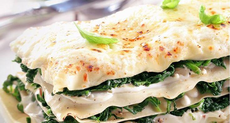 Lasagna cu spanac şi brânză de capră
