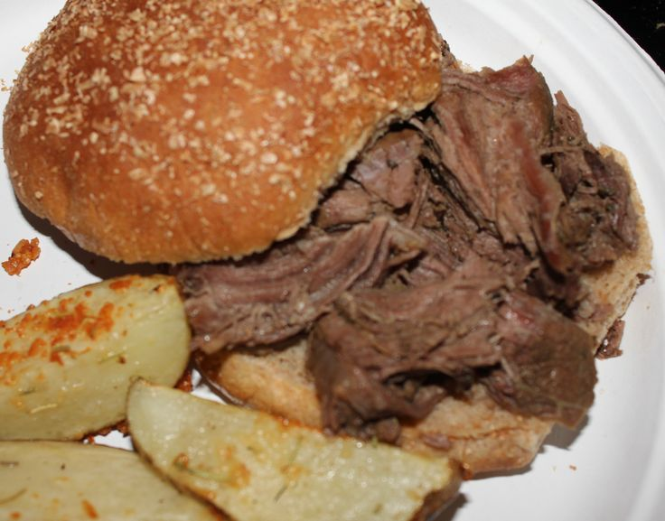 Slow Cooker Italian Beef Sandwiches - i heart eating