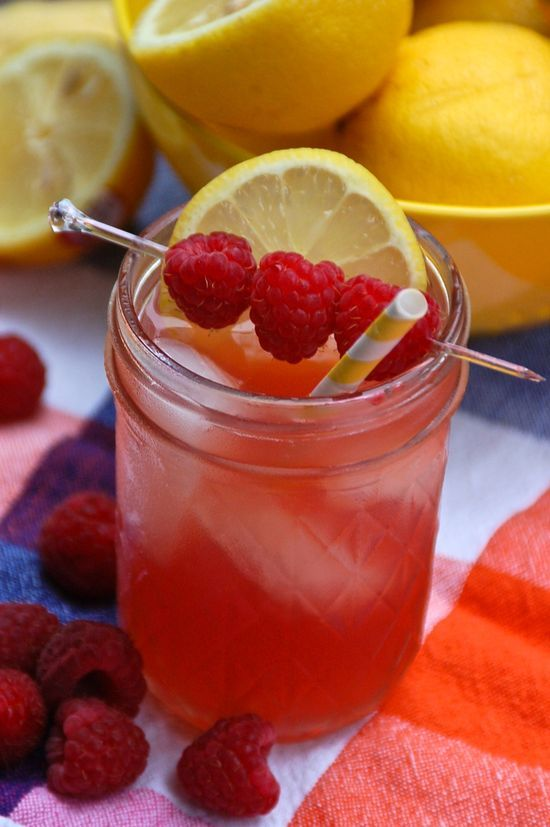 Fireball Whiskey Razzyade.  1 ounce Fireball Whisky 2.5 ounces raspberry lemonade Squeeze of one lemon wedge  Add the ingredients to a glass filled with ice. Mix well and serve. Garnish with fresh raspberries and
