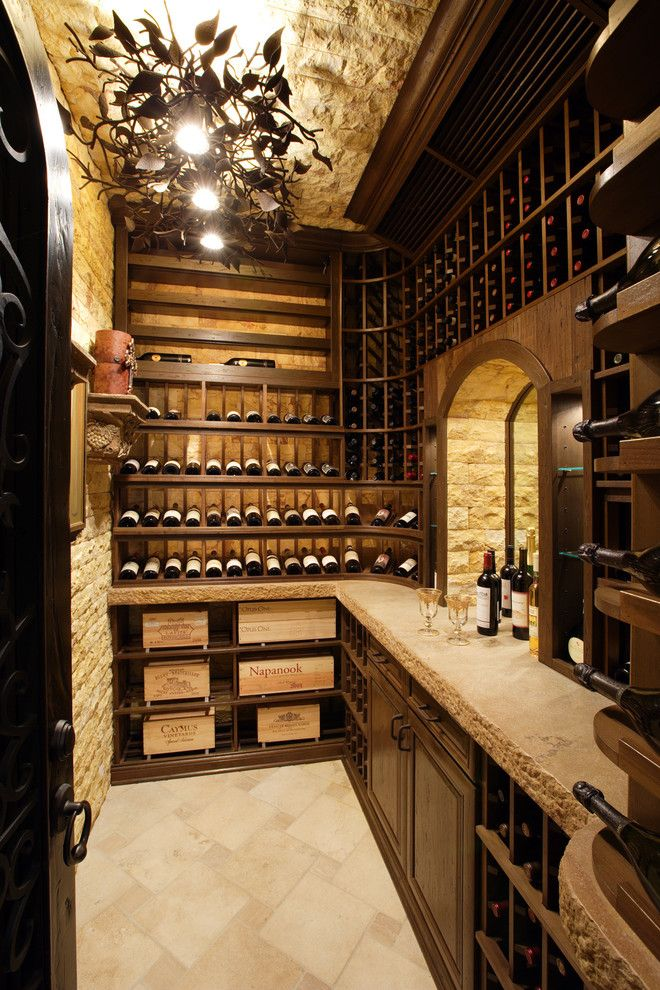 Natural stone wine cellar basement pinterest for Wine cellar pinterest