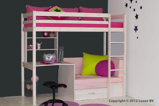 17 beste idee n over meisje hoogslapers op pinterest kinderen zolder slaapkamers meisjes - Slaapkamer van een meisje ...