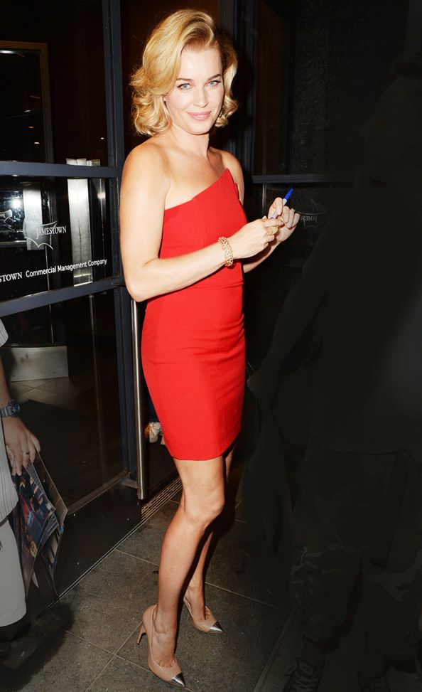 Rebecca Romijn Looks Red Hot in a Minidress from Michelle Mason #InStyle