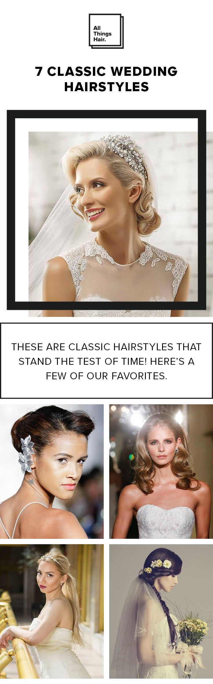 When it comes to wedding hairstyles for your big day, we've got you covered. From a bridal ponytail to retro curls, check out our favorite classic wedding looks. #Ad