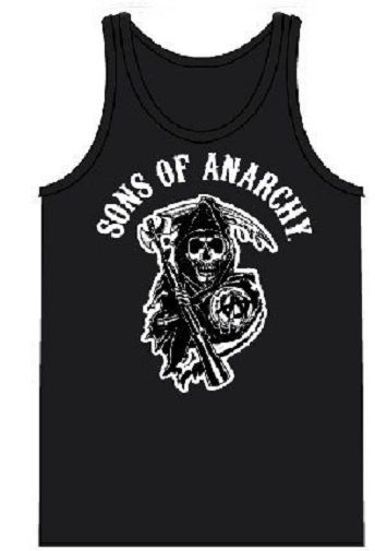 Sons of Anarchy Classic Reaper Black Adult Tank Top - Sons of Anarchy - | TV Store Online